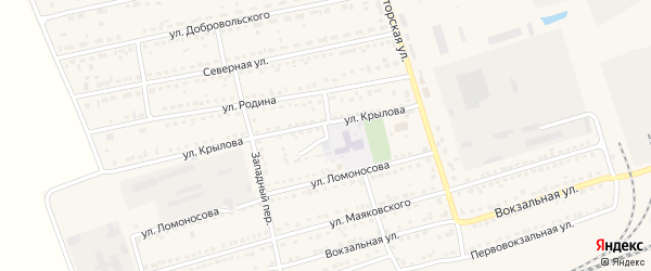 Школьный переулок на карте села Кулунды с номерами домов
