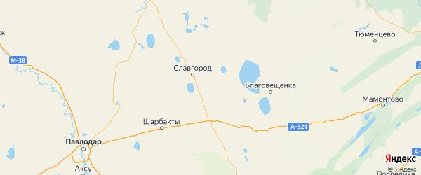 Карта Табунского района Алтайского края с населенными пунктами и городами