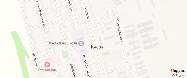 Улица Энгельса на карте села Кусака с номерами домов