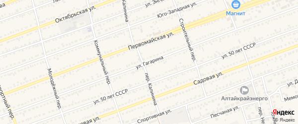 Улица Гагарина на карте села Кулунды с номерами домов