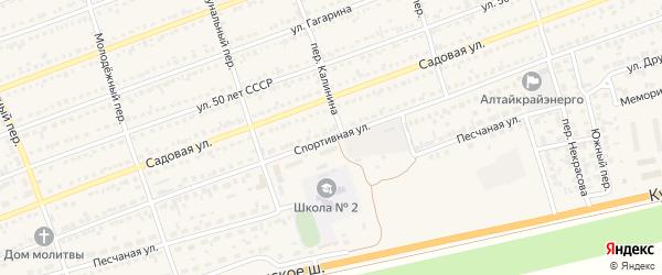Спортивная улица на карте села Кулунды с номерами домов