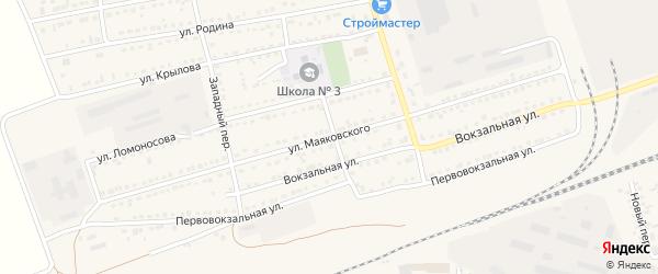 Улица Маяковского на карте села Кулунды с номерами домов
