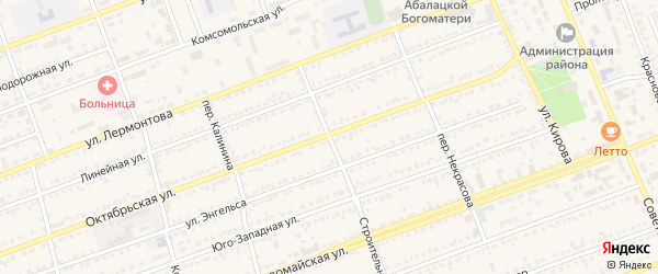 Строительный переулок на карте села Кулунды с номерами домов