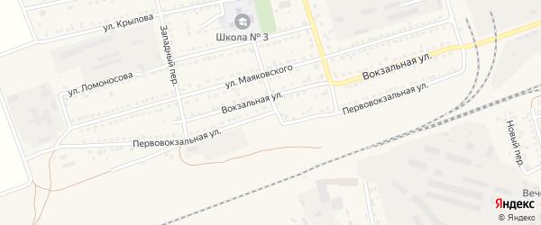 Первовокзальная улица на карте села Кулунды с номерами домов
