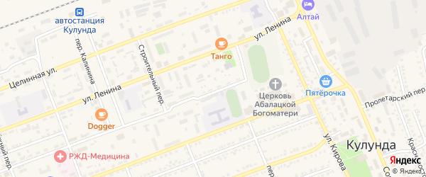 Красноармейская улица на карте села Кулунды с номерами домов