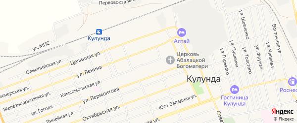 Карта села Кулунды в Алтайском крае с улицами и номерами домов