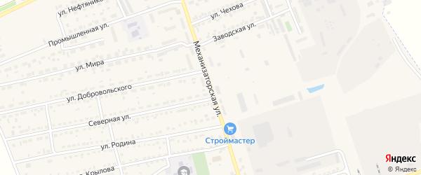Механизаторская улица на карте села Кулунды с номерами домов