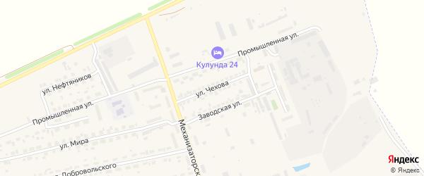 Улица Чехова на карте села Кулунды с номерами домов