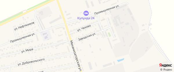Заводская улица на карте села Кулунды с номерами домов
