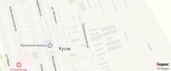 Промышленная улица на карте села Кусака с номерами домов