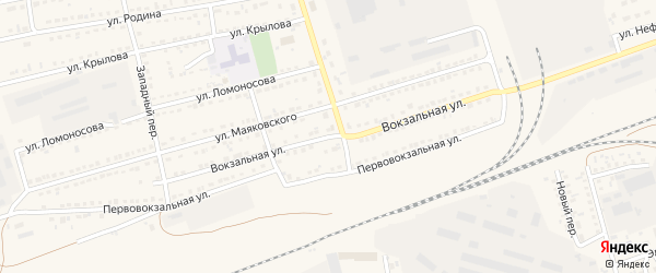 Вокзальная улица на карте села Кулунды с номерами домов