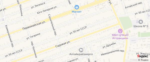 Улица 50 лет СССР на карте села Кулунды с номерами домов