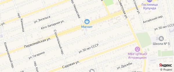 Переулок Некрасова на карте села Кулунды с номерами домов
