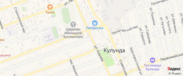 Улица Кирова на карте села Кулунды с номерами домов