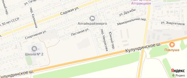 Березовская улица на карте села Кулунды с номерами домов