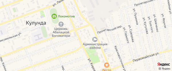 Улица Матросова на карте села Кулунды с номерами домов