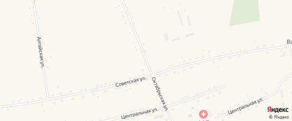 Октябрьская улица на карте села Васильчуки с номерами домов