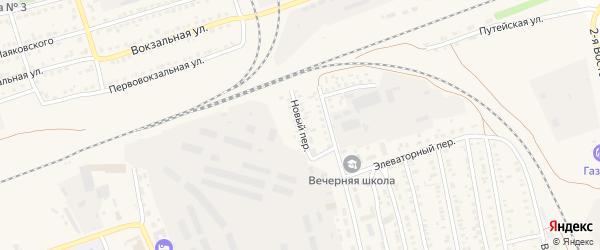 Новый переулок на карте села Кулунды с номерами домов