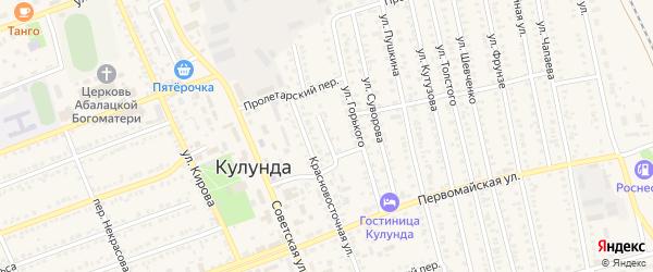 Красновосточная 2-ая улица на карте села Кулунды с номерами домов