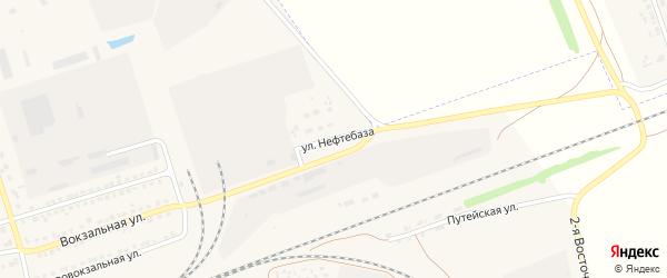 Улица Нефтебаза на карте села Кулунды с номерами домов