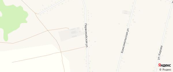 Первомайская улица на карте села Васильчуки с номерами домов