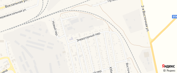 Элеваторный переулок на карте села Кулунды с номерами домов
