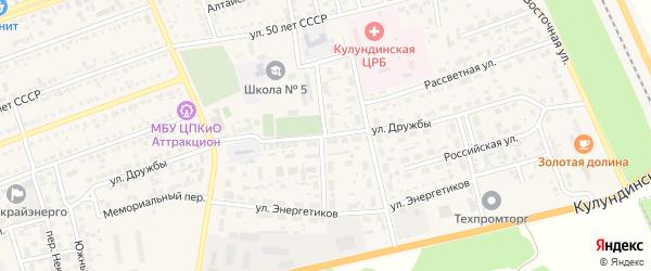Улица Дружбы на карте села Кулунды с номерами домов