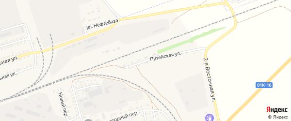 Путейская улица на карте села Кулунды с номерами домов