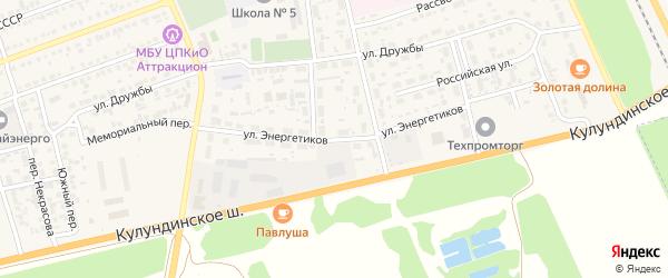 Улица Энергетиков на карте села Кулунды с номерами домов