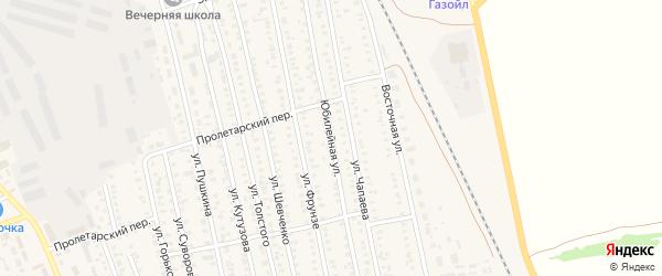 Юбилейная улица на карте села Кулунды с номерами домов