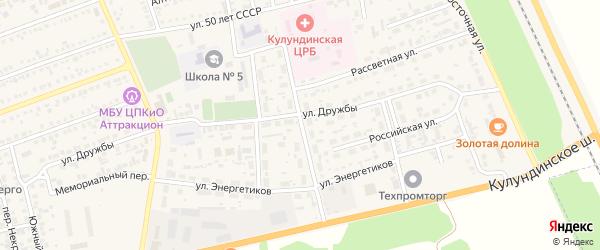 Рубиновая улица на карте села Кулунды с номерами домов