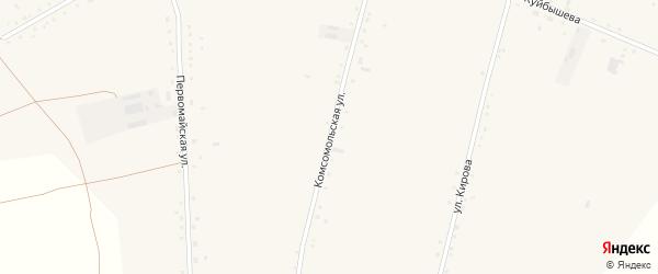 Комсомольская улица на карте села Васильчуки с номерами домов