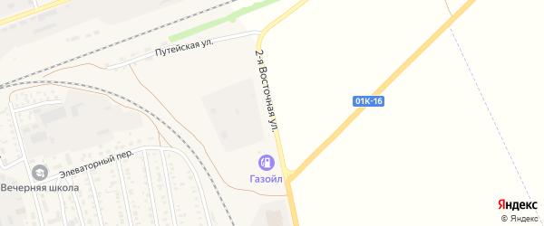 2-я Восточная улица на карте села Кулунды с номерами домов