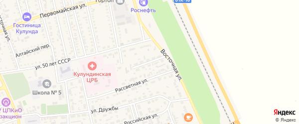Интернациональная улица на карте села Кулунды с номерами домов