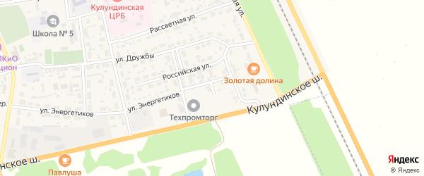 Полевой переулок на карте села Кулунды с номерами домов
