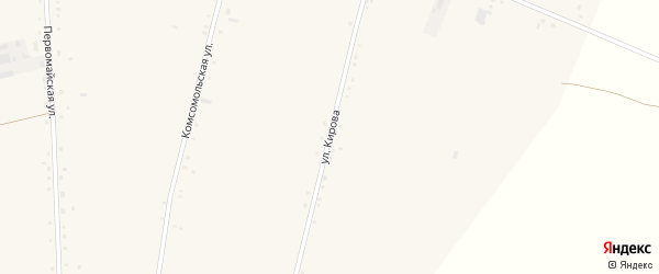 Улица Кирова на карте села Васильчуки с номерами домов