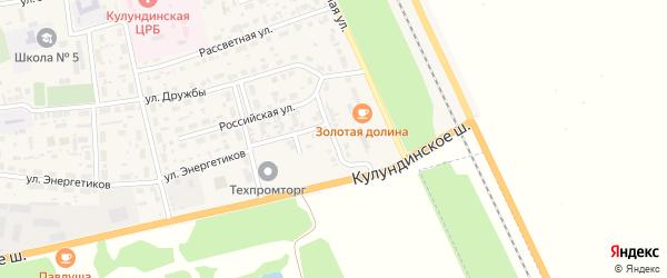 Малиновский переулок на карте села Кулунды с номерами домов