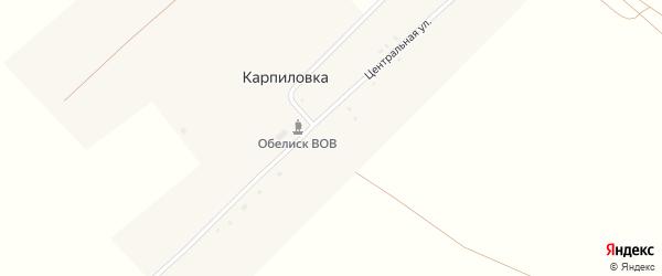Комсомольская улица на карте села Карпиловки с номерами домов