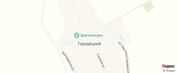 Степная улица на карте Городецкого поселка с номерами домов