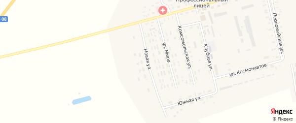Новая улица на карте села Гальбштадта с номерами домов