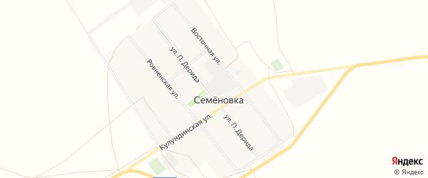 Карта села Семеновки города Славгорода в Алтайском крае с улицами и номерами домов