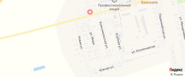 Улица Мира на карте села Гальбштадта с номерами домов