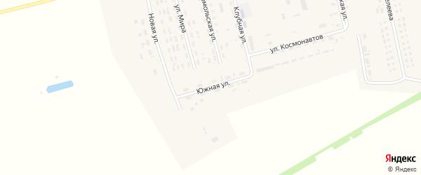 Южная улица на карте села Гальбштадта с номерами домов