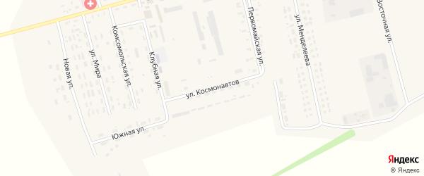 Улица Космонавтов на карте села Гальбштадта с номерами домов