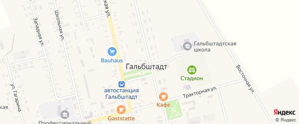 Улица Менделеева на карте села Гальбштадта с номерами домов