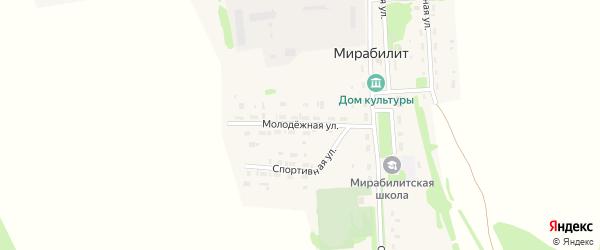 Молодежная улица на карте поселка Мирабилита с номерами домов