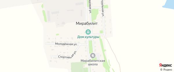 Садовая улица на карте поселка Мирабилита с номерами домов