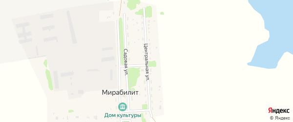 Центральная улица на карте поселка Мирабилита с номерами домов