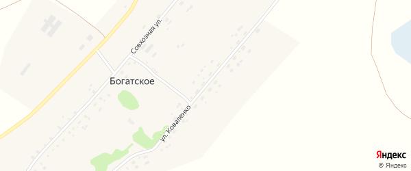 Улица Коваленко на карте поселка Богатского с номерами домов