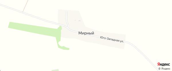 Юго-Западная улица на карте Мирного поселка с номерами домов